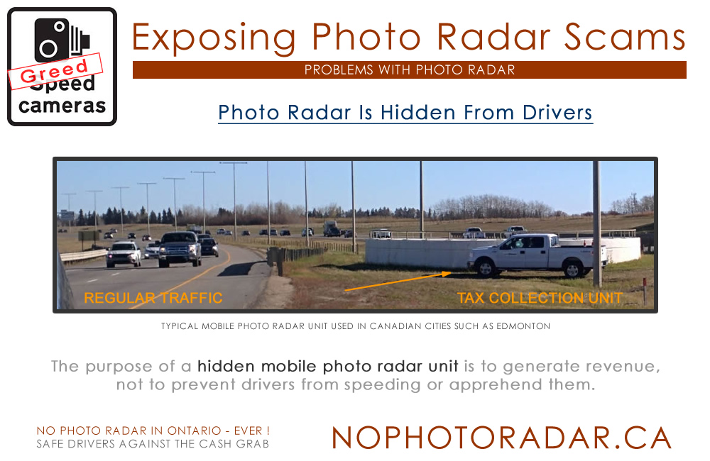 No Photo Radar In Ontario - Ever!